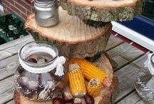 creatief met dingen uit de natuur / wat kunnen we doen met bomen/takken etc