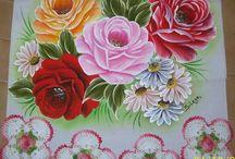 malované ubrusy a malování na látky
