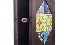Wooden Tiled Keyring Holder