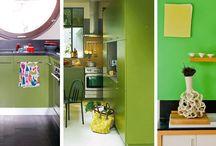 Interior color block / Des intérieurs colorés pour illuminer les maisons