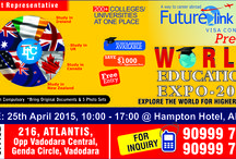 World Education Expo / Future Link welcomes you, to be a part of World Education Expo an international study abroad event schedule on 25th April 2015 at Vadodara (Gujarat) India. If you are interested in overseas education then this event is definitely for you. Come and get connected with us, we will arrange your meeting with the official representatives of various colleges/institutes and universities across the globe who are participating in this Education fair.