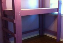 Loft bed designs / by Erica Hollis