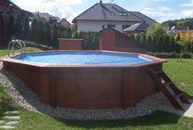 bazén + záhrada