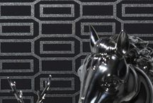 Black Wallpaper / Stunning black wallpaper featuring beautiful designs guaranteed to create a look of sophistication and style in your home. http://www.wowwallpaperhanging.com.au/black-wallpaper/