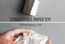 Paper Toys / Almost everyone has access scrap paper, why not turn it into something fun before recycling?!