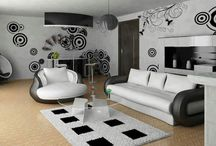 B & W Rooms / Black and white is a unique combination of color that is most eye catching for every viewer, even according to a survey when selecting from a collection of gracious objects most of the people preferred to select Black and White color combination. Below are the pictures of some very elegant B & W rooms. Have a glance.
