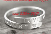 Personalised Rings / Sterling silver personalised rings by Personalised Treasures. Hand stamped with your own text.