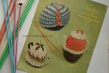 VintageTea Cosy patterns in Knitting and Crochet / WonkyZebra's vintage knitting and crochet patterns for tea and coffee cosies plus  the odd egg cosy or bedsock!