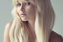 bangs blonde hair