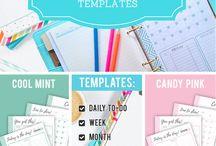 Printable Sheets, Organizing