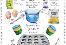 watercolour art prints for kitchen