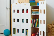 Półki na książki w pokoju dziecka / Inspiracje na półki, kosze itd. na książki w pokoju dziecięcym,