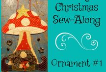 Merry Christmas Sew-Along with Teadoddles and Farmhouse Quilts / Dedicated to the Christmas ornaments made from our free patterns. For details visit www.farmhousequilts.blog or www.teadoddles.com