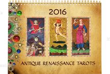TAROTS AND ASTROLOGY /  Restaured , digitally  re elaboreted versions of Antique Renaissance Tarots, German Court cards and Original paintings by Bulgan Lumini and Ailartworks (c) Posters ,Cards and other product designs on theme.