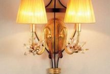 Wall Lights / Wall lights, bathroom lights, wall sconces, are used as mood lighting and as task lighting. / by Elizabeth Ray