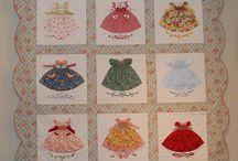 dresses applique quilt