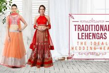 traditional red #saree or an offbeat colourful #Lehenga?