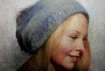 portraits peintures à l'huile / portraits