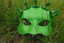 My leather masks / Handmade leather masks made by me :) I use vegetable tanned leather 1,5-2,0 mm