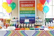 Rainbow Dance Birthday Party / For this party, rainbows equal happiness with a unicorn accent! All the colors of a fun & fabulous birthday celebration! Woohoo! Xo