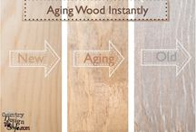 Aging wood