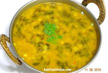 Dal Palak-yellow lentils with spinach