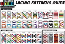 U-Lace Patterns Guide / Lacing Guide. There are well over 40 known U-Lace lacing patterns. Recently, the winner of Win Free Kicks For A Year contest created several lace-ups that we had never seen or thought of.  So there are likely even more patterns out there to be discovered. Remember, you can use patterns not just for creating cool designs but also for fine-tuning the snugness and feel of your U-Laces. Simple lace-ups are generally looser and the more complex lace-ups more snug. Do what works for you.