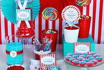 Candy Party/Red & White & Turq / by Lachelle Anderson