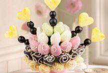 Çikolatalı Meyve Çiçekleri / Çikolatalı meyve sepetleri
