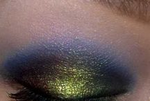 peacock eye shadow.