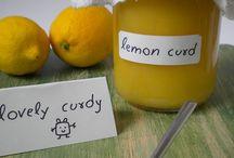 crema de limón.