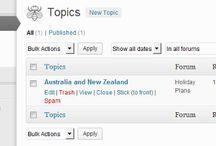 forum websites + wordpress
