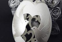 Ażurowa pisanka ślubna / Openwork wedding egg