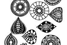Mandala pattern for painting
