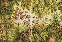 Enchanted Forest coloring inspiration