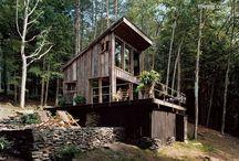 cabaña con garage