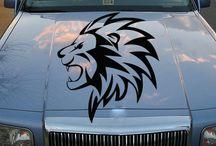 Lion Vinyl Sticker for Auto