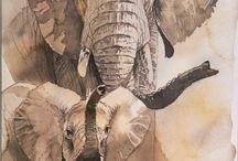 Gemälde Afrika