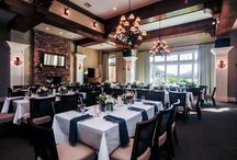 Wedding Details / Inside the main clubhouse at St. Johns Golf and Country Club set for a wedding