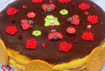 torta flan e galletas