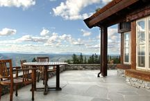 Skifer på terrasse og innkjørsel