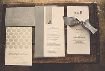 Einladungen, Tischkarten usw.