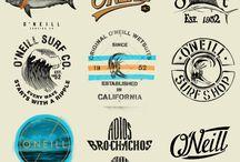 Vintage surf signs