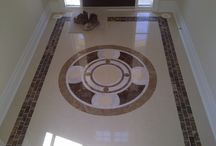 Front Entrance Hallway Tile Floor Ideas / Some cool examples of tiles layouts we've done. These were for front entrance hallways and were designed and installed by New Way Contractors, a home improvement and renovations general contractor in Toronto, Ontario, Canada.