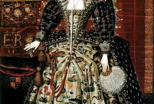 Late Elizabethan gowns