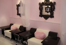 White and Fuchsia Nail Spa Salon.Boutique
