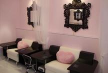 White and Fuchsia Nail Spa Salon.Boutique