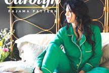 Look 4 + Look 8 / Loungewear/Lingerie- B5152 dress (Butterick) + Watson bra (Cloth Habit) + Carolyn PJ Pants (Closet Case Files)