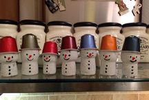 Bonhommes neige capsules Nespresso