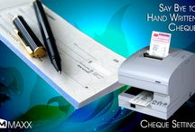 Cheque Settings / Cheque settings is used to design the cheque according to the bank cheque leaf formats. Users can easily print cheque's in desired format... http://maxxerp.blogspot.in/2013/09/maxx-say-bye-to-hand-written-cheque.html